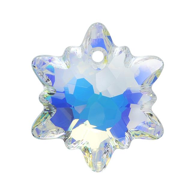 Swarovski Crystal, 6748 Edelweiss Pendant 18mm, 1 Piece, Crystal AB