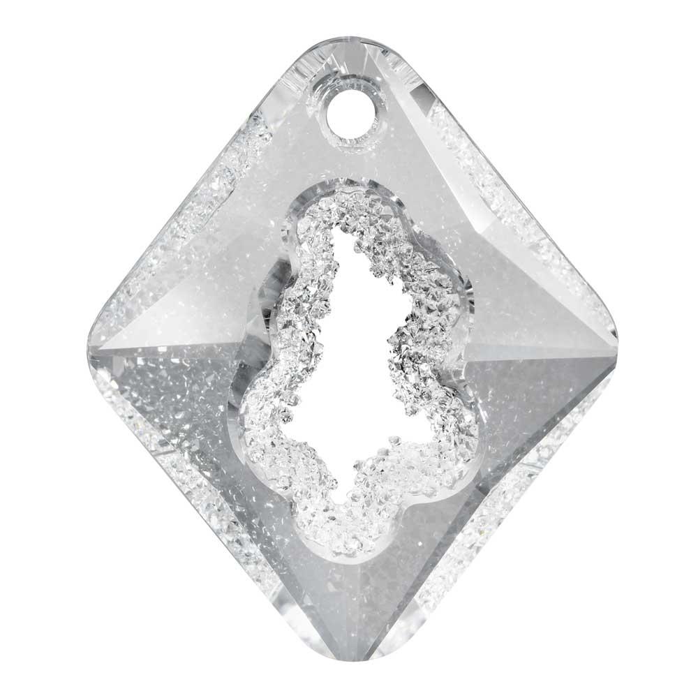 Swarovski Crystal, #6926 Growing Crystal Rhombus Pendant 36mm, 1 Piece, Crystal