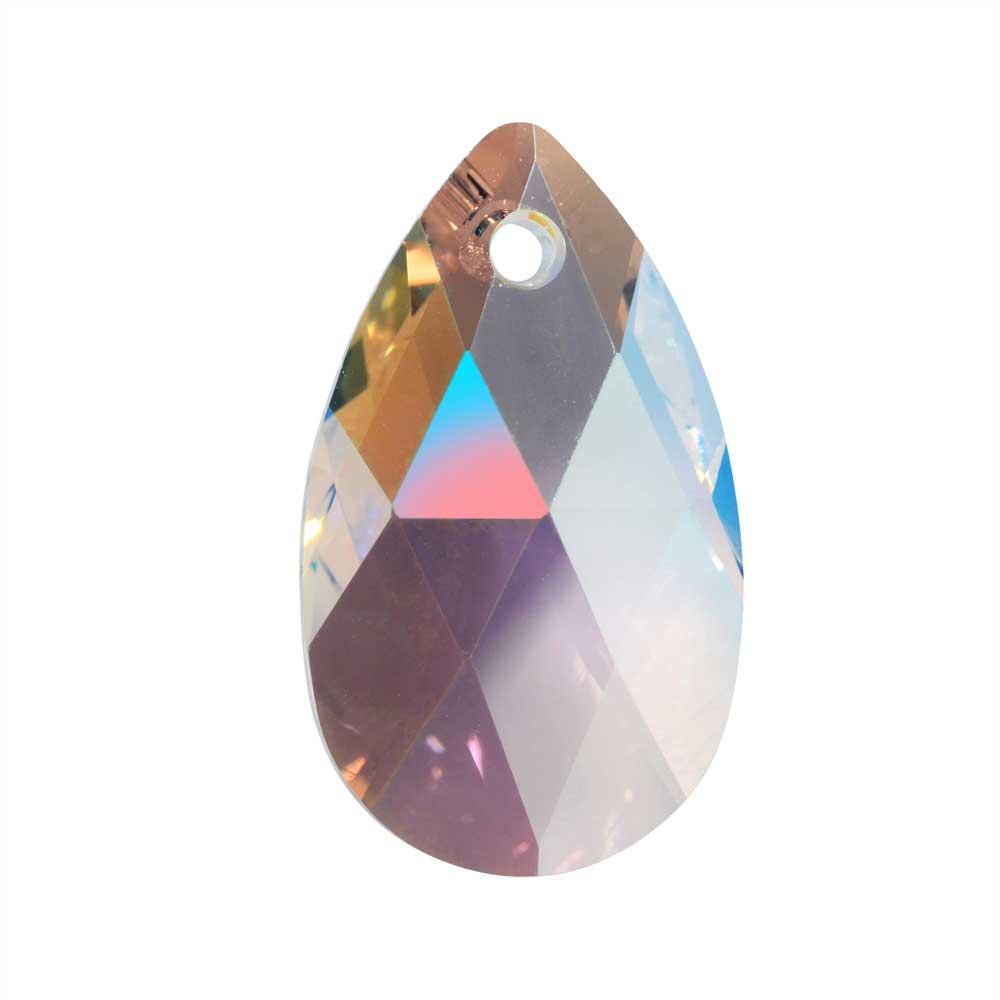 Swarovski Crystal, #6106 Pear Pendant 22mm, 1 Piece, Crystal Shimmer