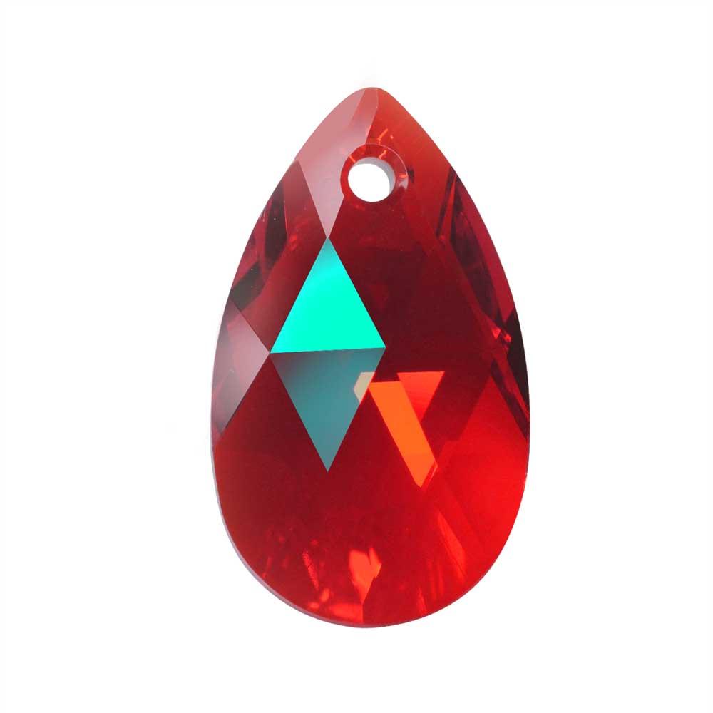 Swarovski Crystal, #6106 Pear Pendant 22mm, 1 Piece, Light Siam Shimmer