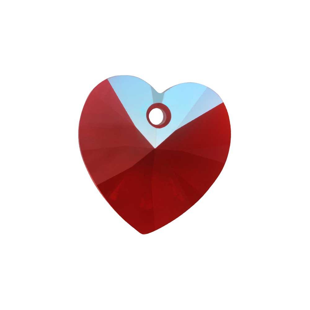 Swarovski Crystal, #6228 Heart Pendants 10mm, 6 Pieces, Light Siam Shimmer