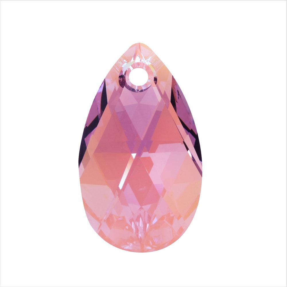 Swarovski Crystal, #6106 Pear Pendant 22mm, 1 Piece, Light Amethyst Shimmer