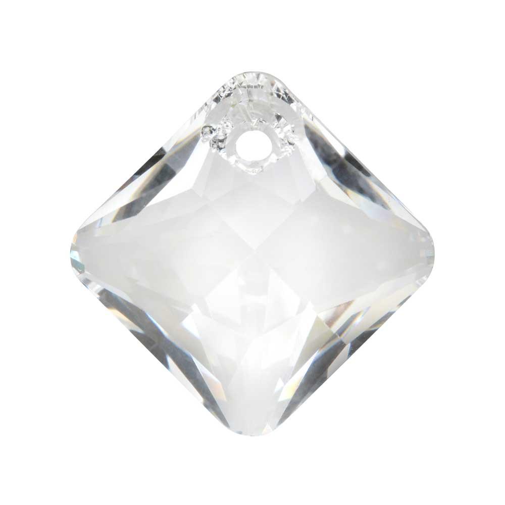 Swarovski Crystal, #6431 Princess Cut Pendant 16mm, 1 Piece, Crystal