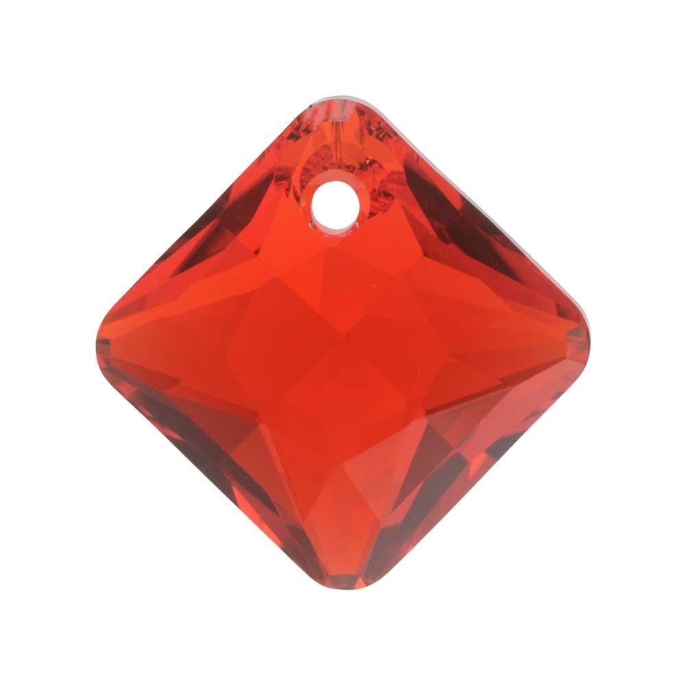 Swarovski Crystal, #6431 Princess Cut Pendant 16mm, 1 Piece, Light Siam