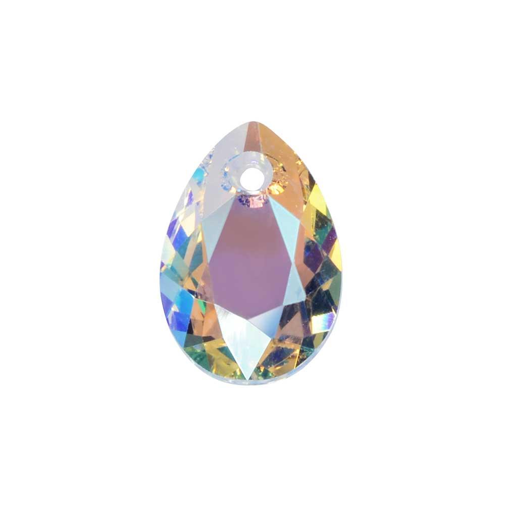 Swarovski Crystal, #6433 Pear Cut Pendant 9mm, 2 Pieces, Crystal Shimmer
