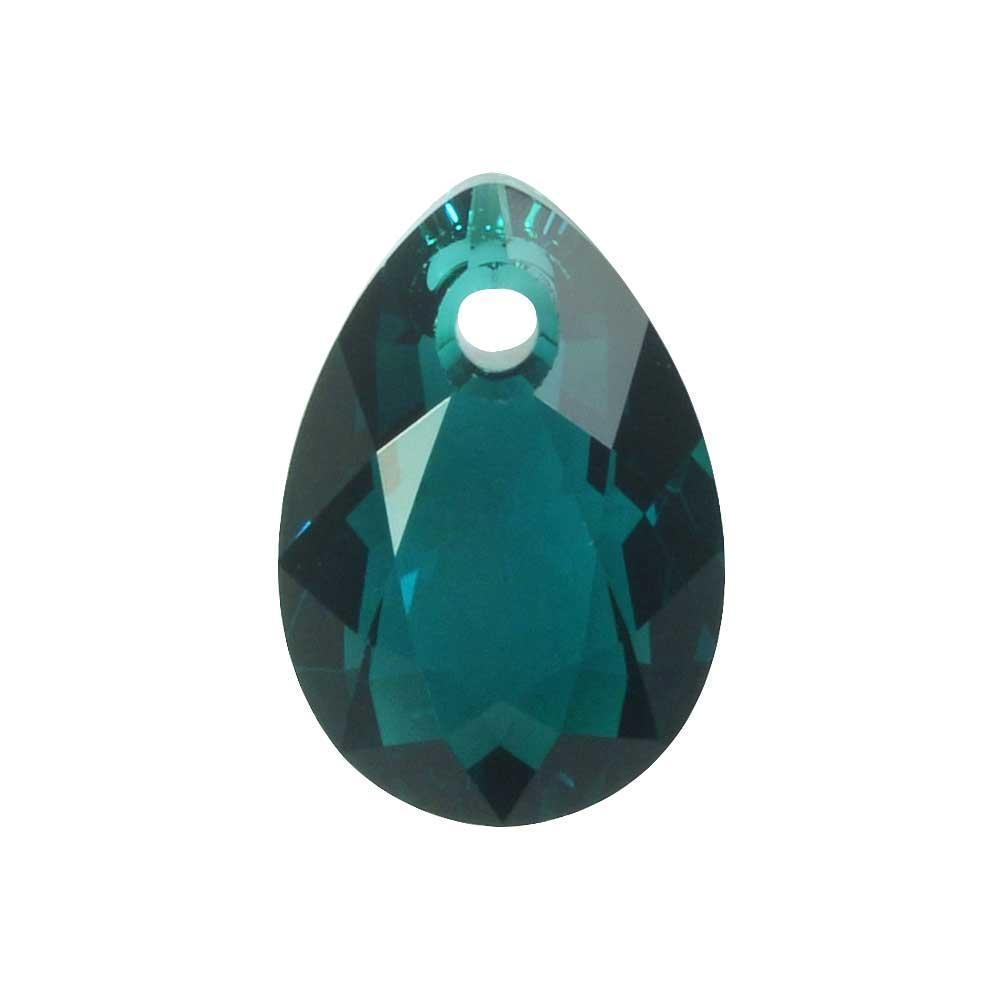 Swarovski Crystal, #6433 Pear Cut Pendant 11.5mm, 2 Pieces, Emerald