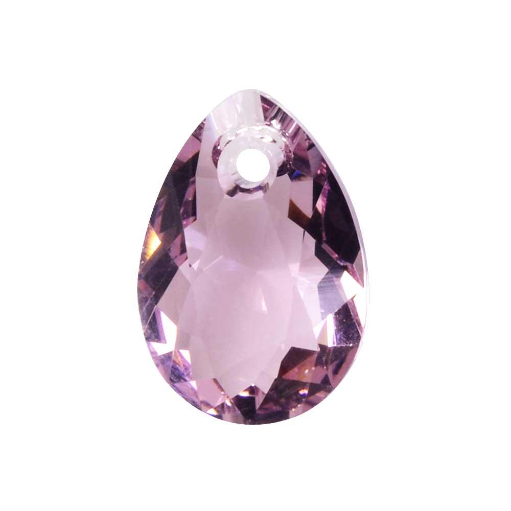 Swarovski Crystal, #6433 Pear Cut Pendant 11.5mm, 2 Pieces, Light Amethyst