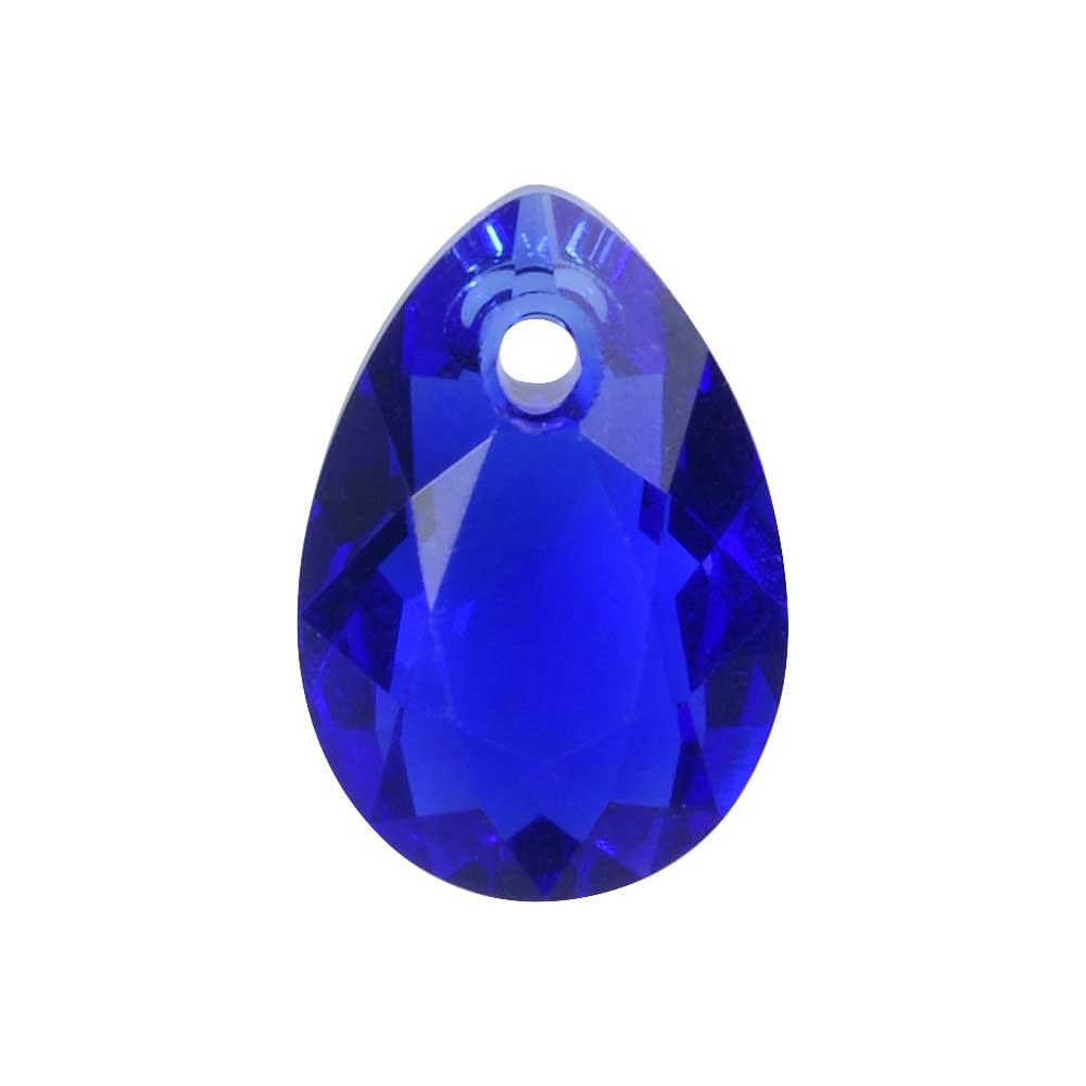 Swarovski Crystal, #6433 Pear Cut Pendant 11.5mm, 2 Pieces, Majestic Blue