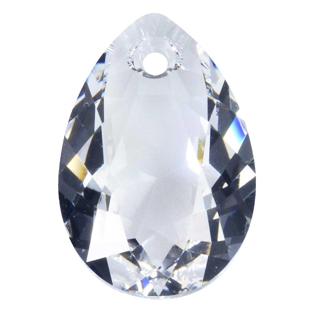 Swarovski Crystal, #6433 Pear Cut Pendant 16mm, 1 Piece, Crystal