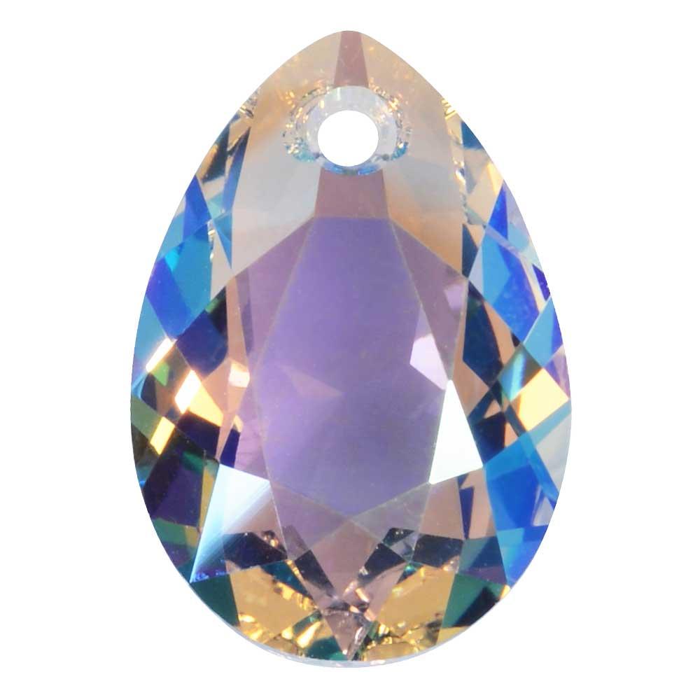 Swarovski Crystal, #6433 Pear Cut Pendant 16mm, 1 Piece, Crystal Shimmer