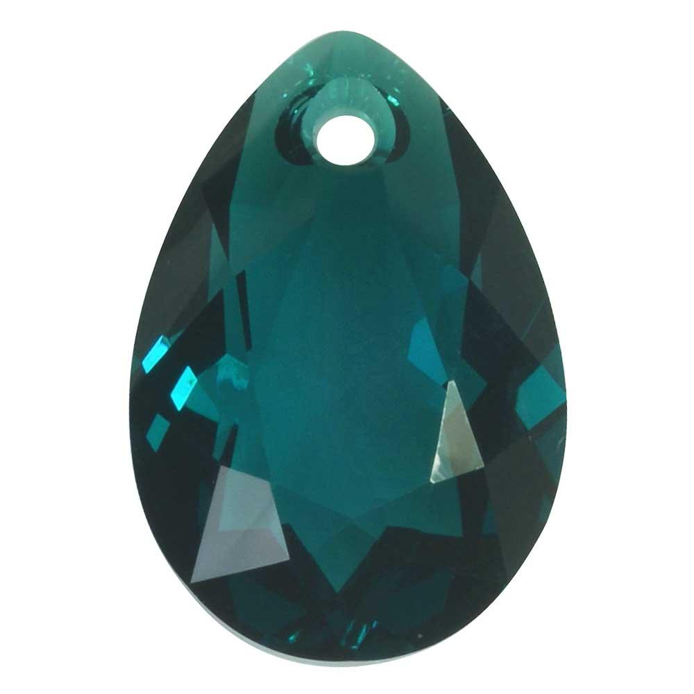 Swarovski Crystal, #6433 Pear Cut Pendant 16mm, 1 Piece, Emerald