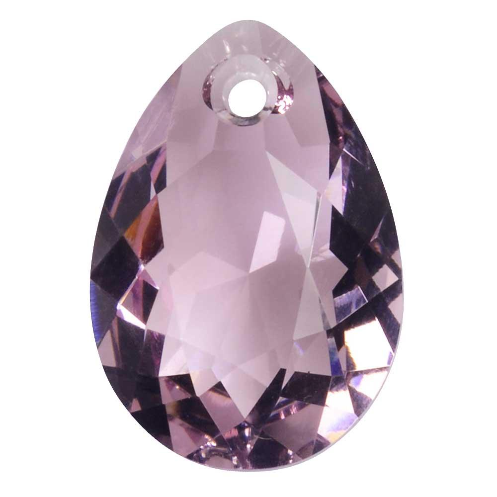 Swarovski Crystal, #6433 Pear Cut Pendant 16mm, 1 Piece, Light Amethyst