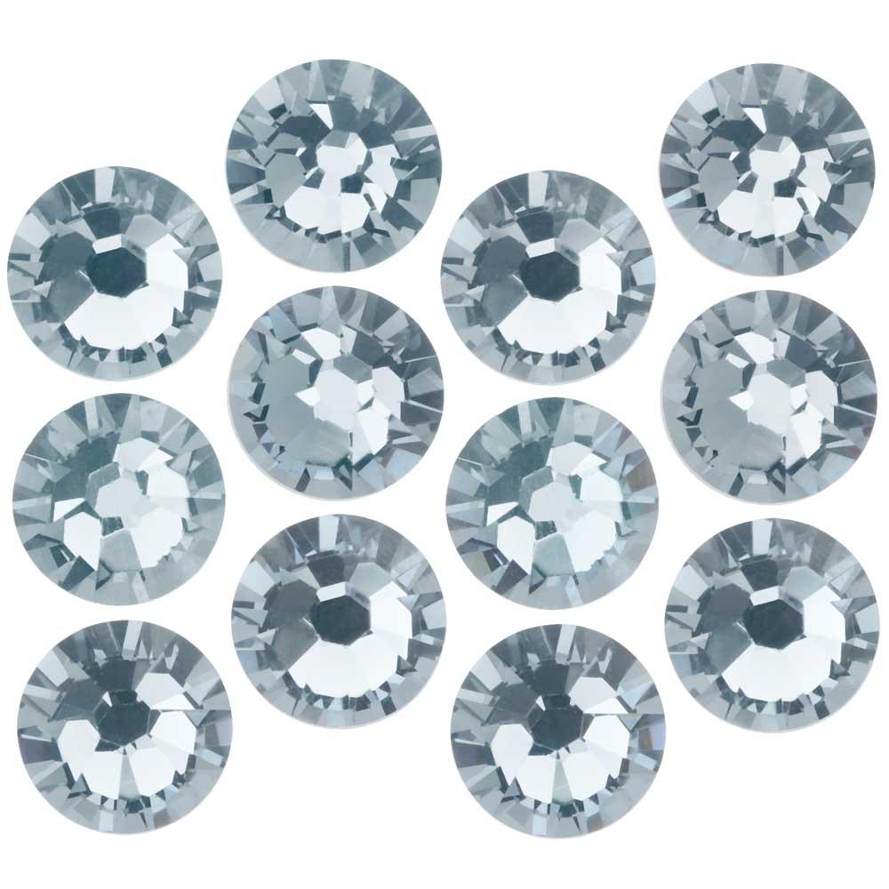 Swarovski Crystal, Round Flatback Rhinestone SS34 7mm, 12 Pieces, Crystal Blue Shade