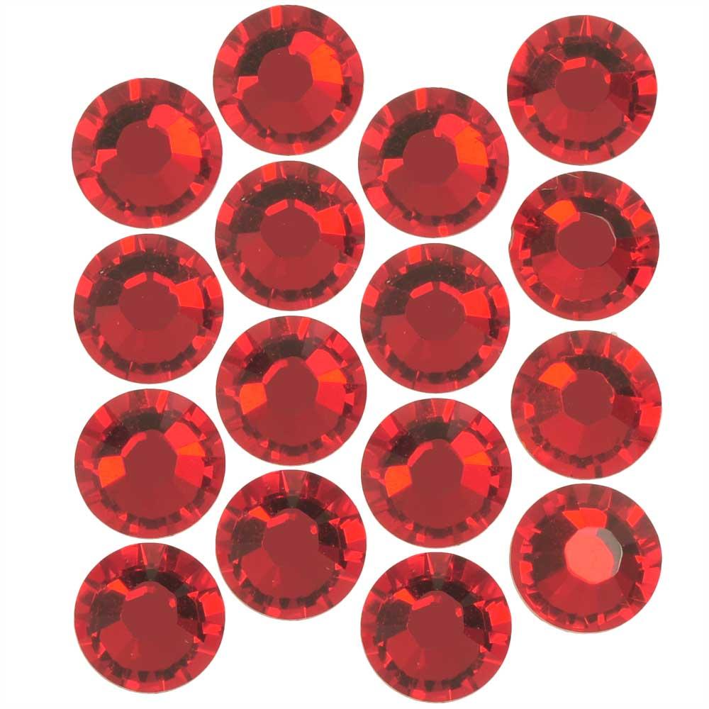 Swarovski Crystal, Round Flatback Rhinestone SS34 7mm, 12 Pieces, Scarlet