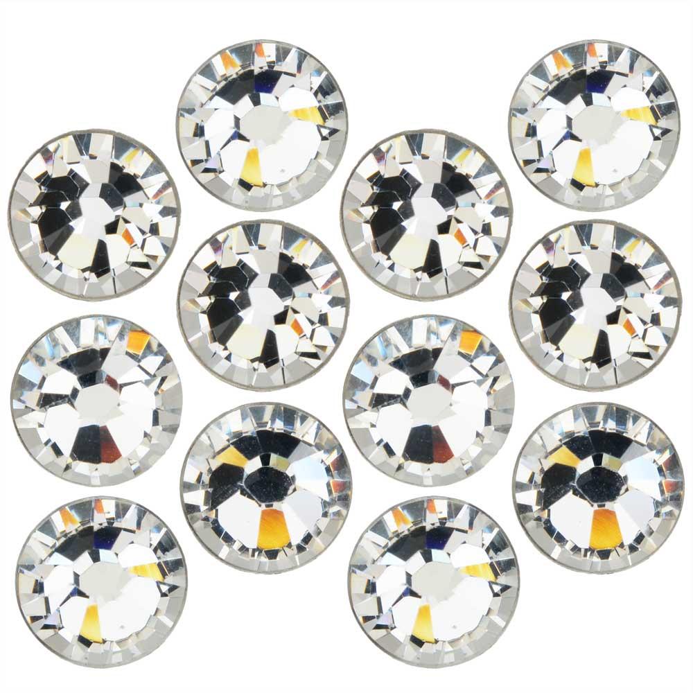 Swarovski Crystal, Round Flatback Rhinestone SS12 3mm, 50 Pieces, Crystal Foiled