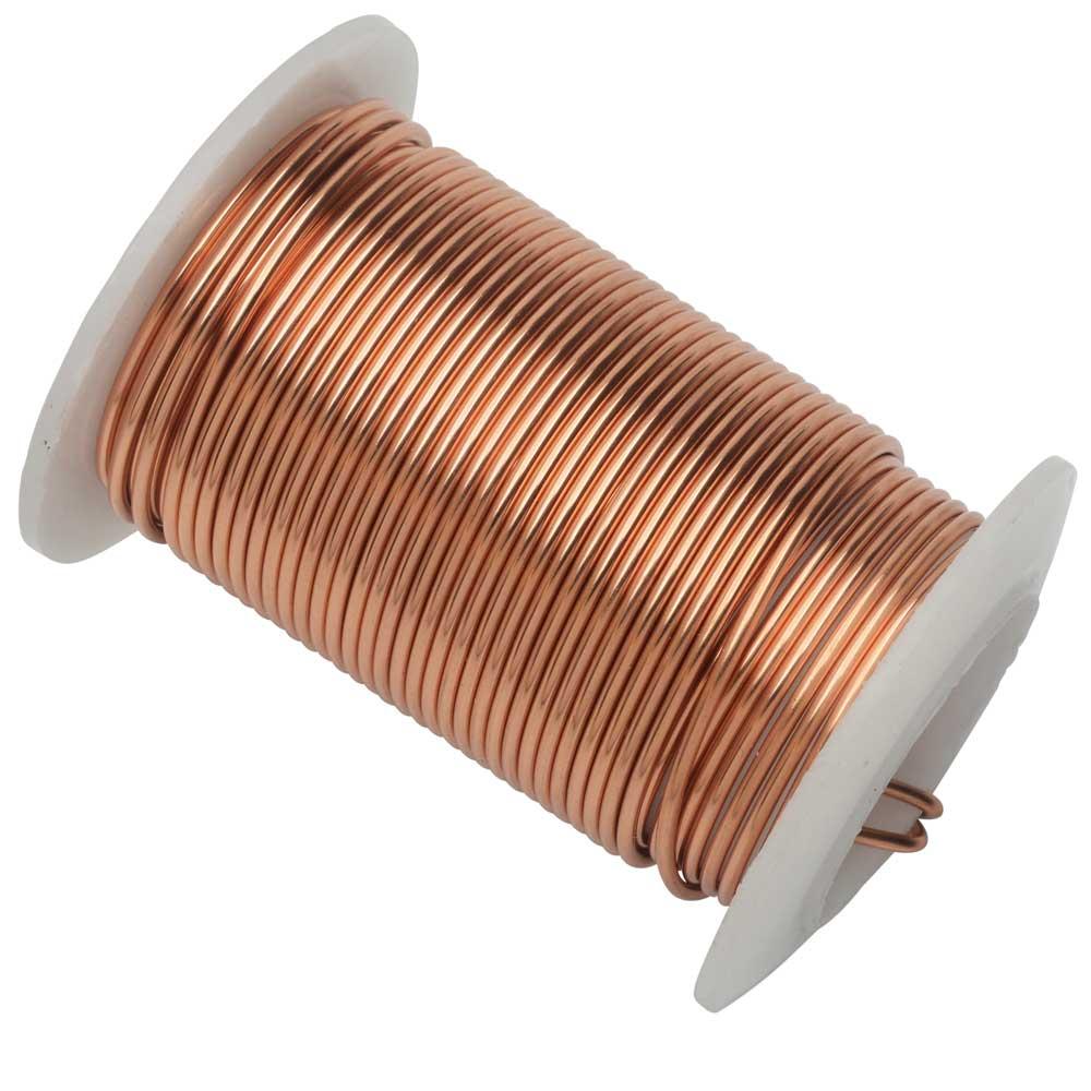 Wire Elements, Tarnish Resistant Bright Copper Wire, 16 Gauge 8 Yards (7.3 Meters)