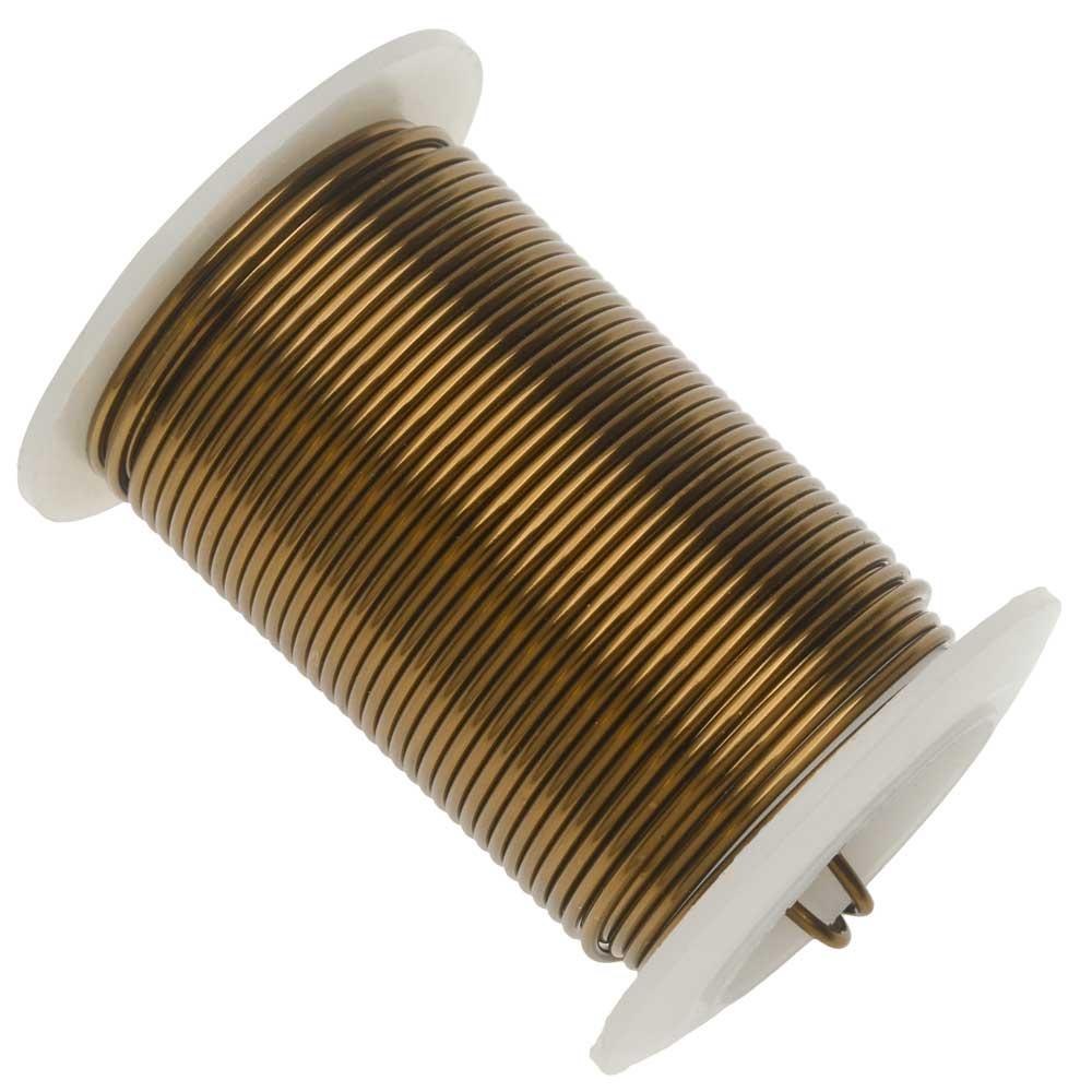 Wire Elements, Tarnish Resistant Vintage Bronze Wire, 16 Gauge 8 Yards (7.3 Meters)