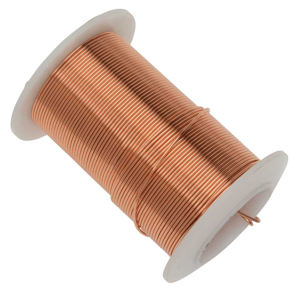 Wire Elements, Tarnish Resistant Bright Copper Wire, 20 Gauge 15 Yards (13.5 Meters)