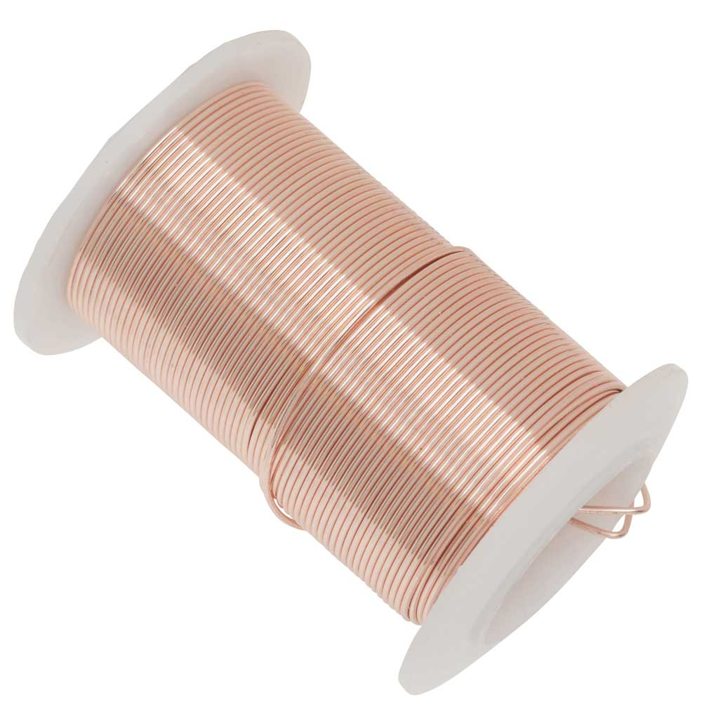Wire Elements, Tarnish Resistant Rose Gold Wire, 20 Gauge 15 Yards (13.5 Meters)