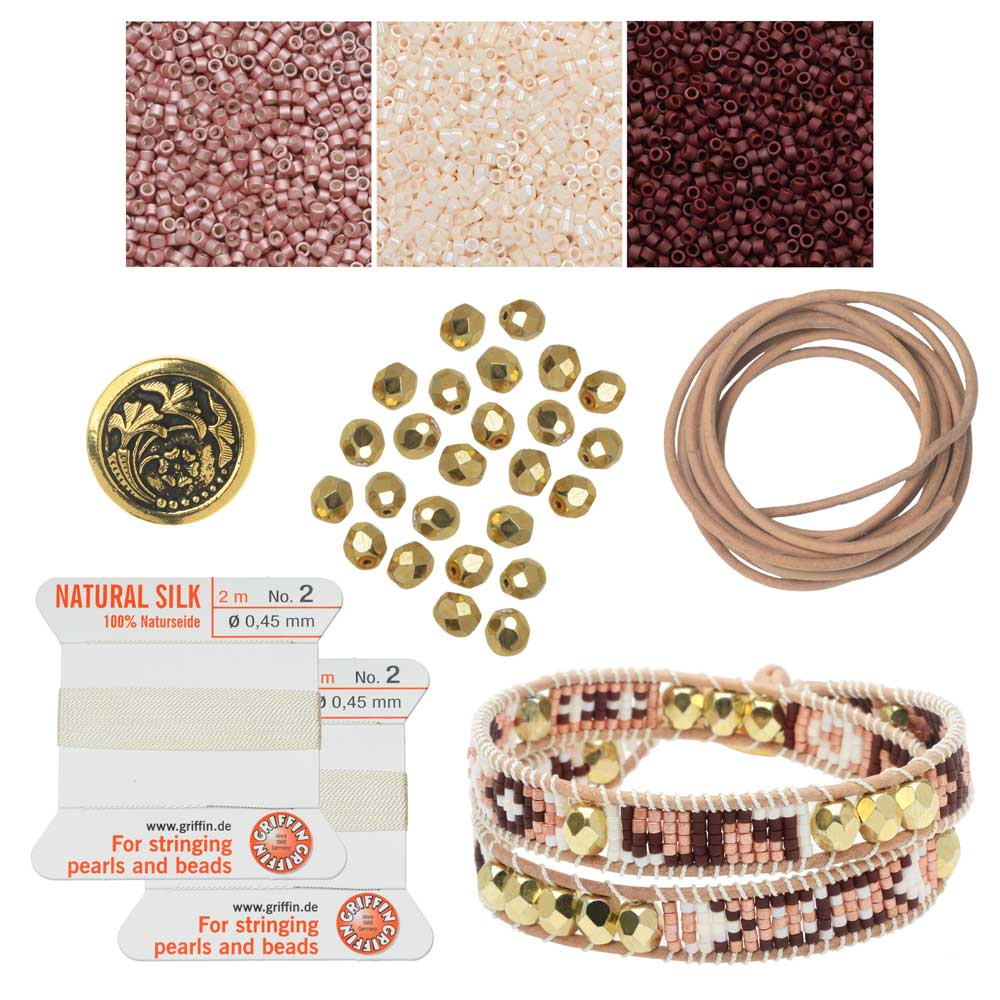 Refill - Mosaic Double Wrapped Loom Bracelet - Sanibel - Exclusive Beadaholique Jewelry Kit