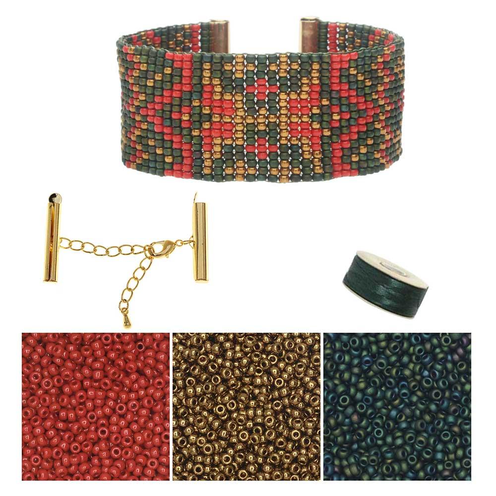 Refill - Vintage Christmas Loom Bracelet - Exclusive Beadaholique Jewelry Kit