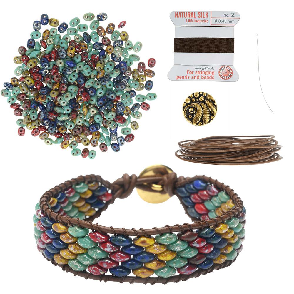 Refill - SuperDuo Wrapit Loom Bracelet in Raku - Exclusive Beadaholique Jewelry Kit