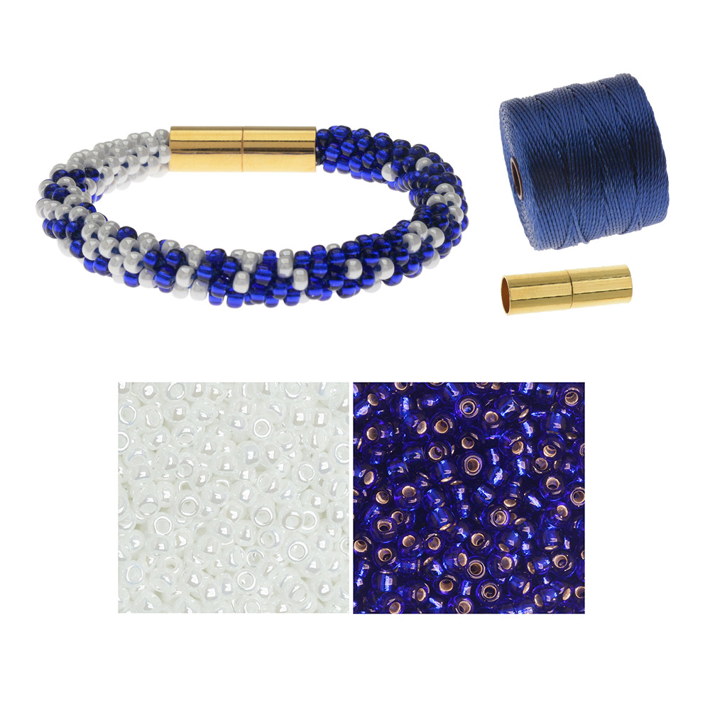 Refill - Graduated Kumihimo Bracelet in Nautical - Exclusive Beadaholique Jewelry Kit