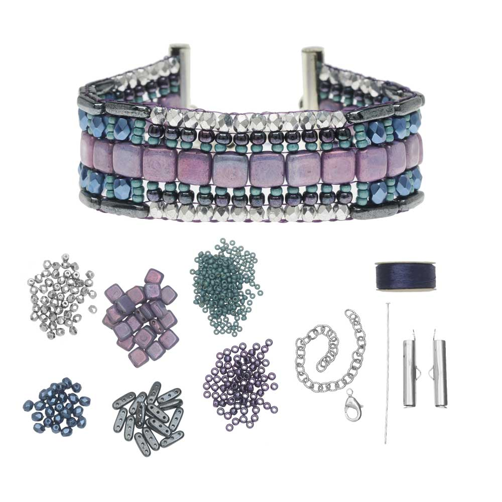 Refill - Patchworks Loom Bracelet Kit - Hermosa - Exclusive Beadaholique Jewelry Kit