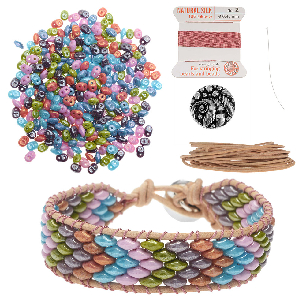 Refill - SuperDuo Wrapit Loom Bracelet in Cotton Candy - Exclusive Beadaholique Jewelry Kit