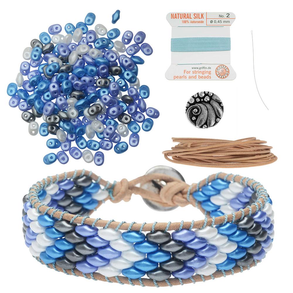 Refill - SuperDuo Wrapit Loom Bracelet in Little Boy Blue - Exclusive Beadaholique Jewelry Kit