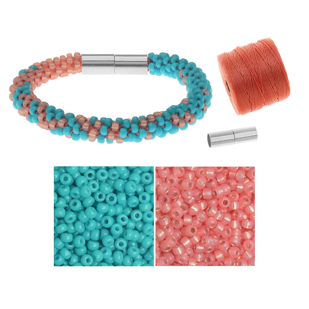 Refill - Graduated Kumihimo Bracelet in Beachside - Exclusive Beadaholique Jewelry Kit