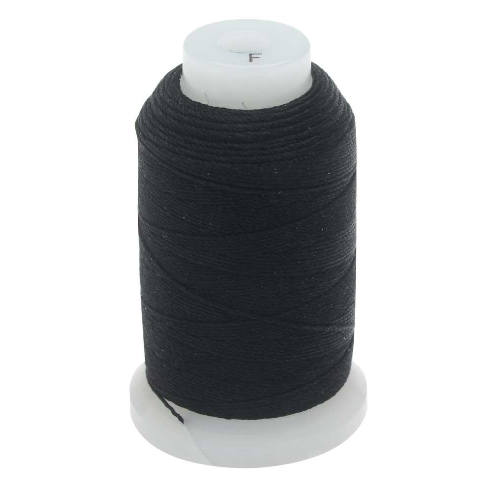 The Beadsmith 100% Silk Beading Thread, Size F, 140 Yards, 1 Spool, Black