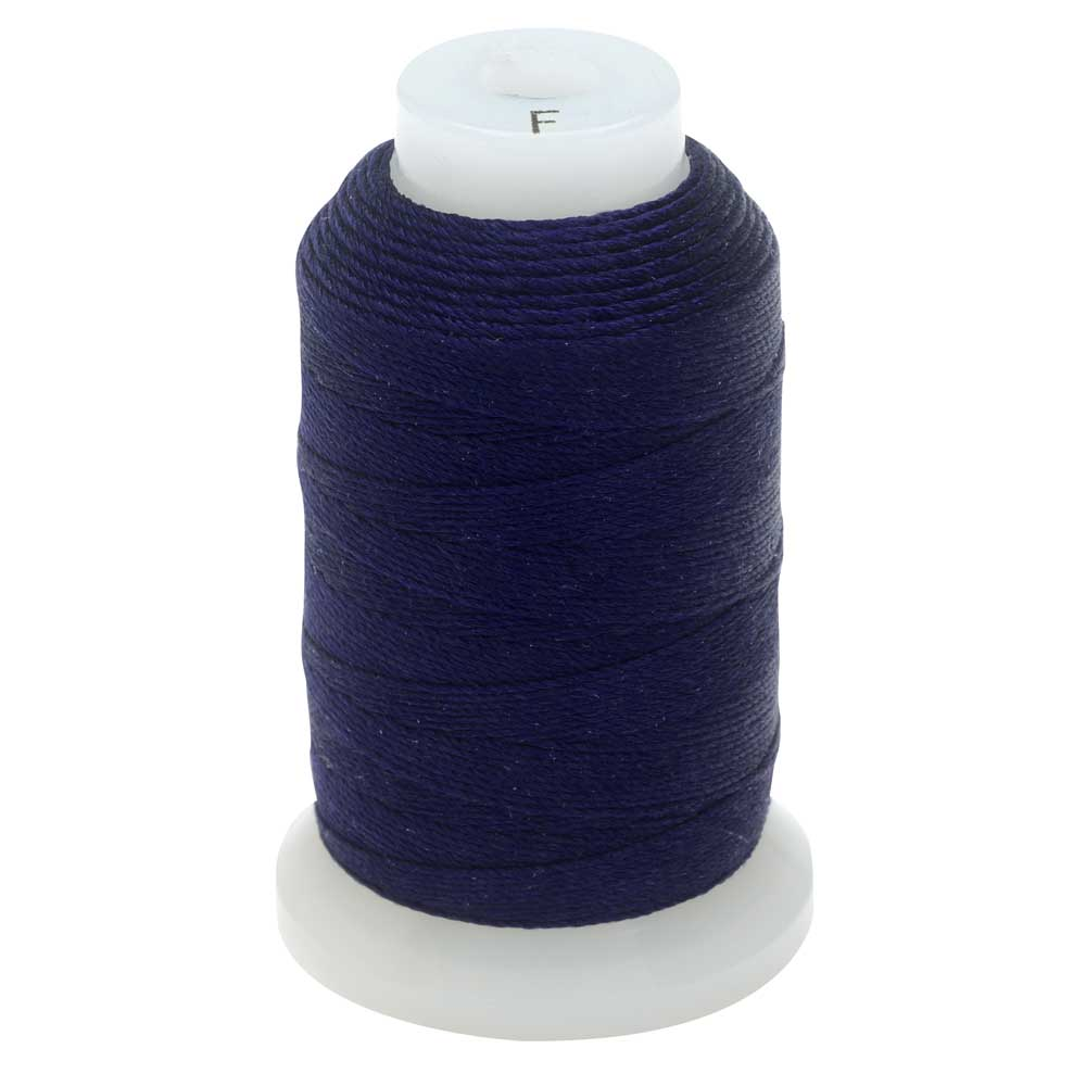 The Beadsmith 100% Silk Beading Thread, Size F, 140 Yards, 1 Spool, Navy Blue