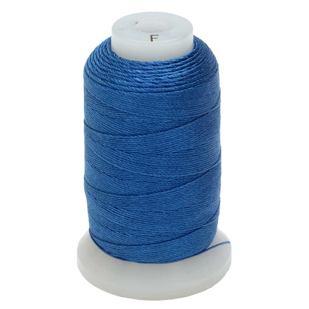 The Beadsmith 100% Silk Beading Thread, Size F, 140 Yards, 1 Spool, Royal Blue