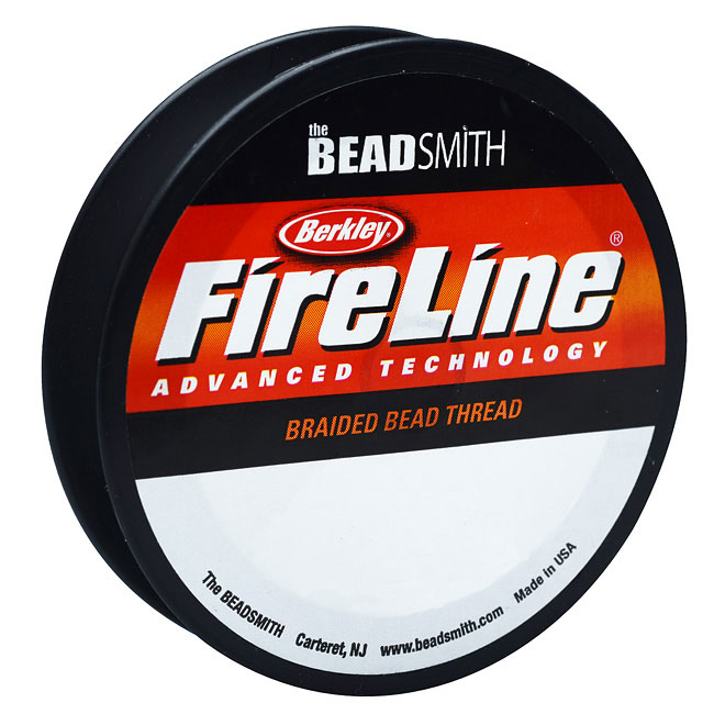 FireLine Braided Beading Thread, 10lb Test and 0.008 Thick, 125 Yards, Crystal Clear