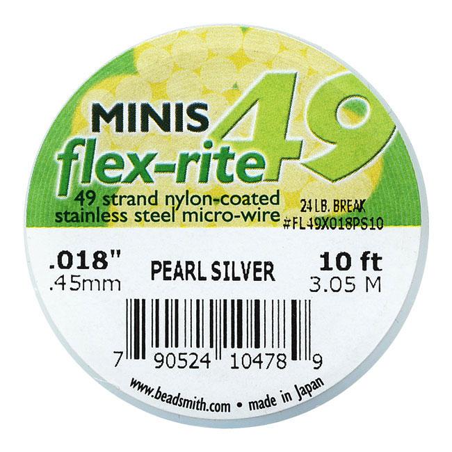 The Beadsmith Flex-Rite Beading Wire, 49 Strand .018