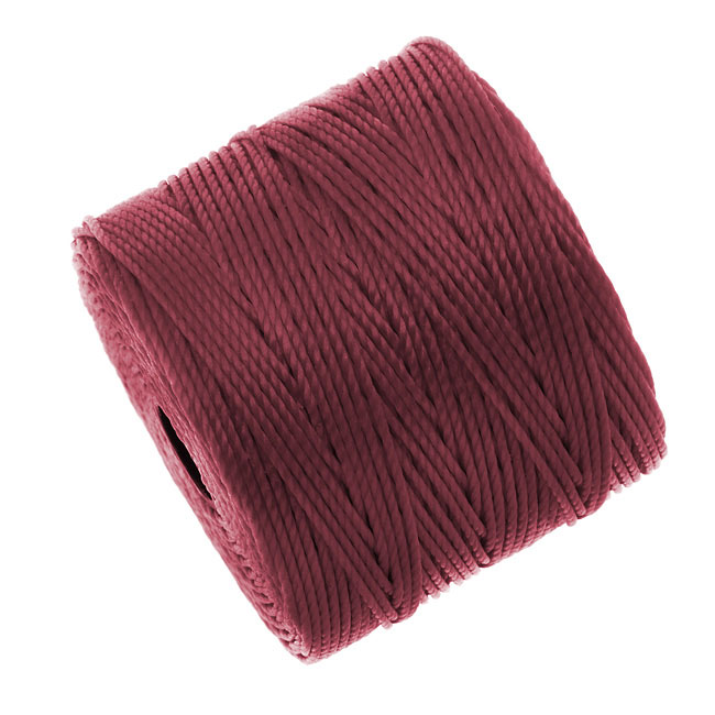 Super-Lon (S-Lon) Cord - Size #18 Twisted Nylon - Dark Red (77 Yard Spool)
