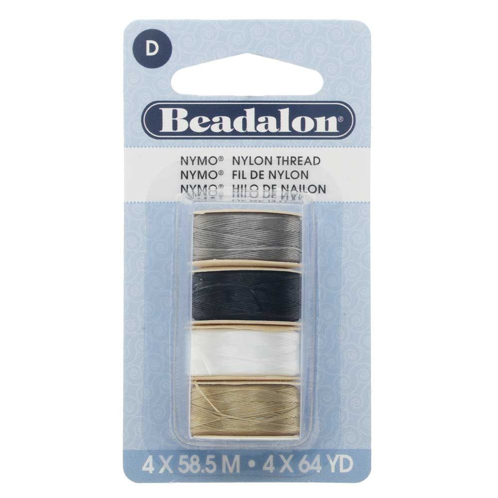 Nymo Nylon Bead Thread Variety Pack, Size D / 0.30mm / .012