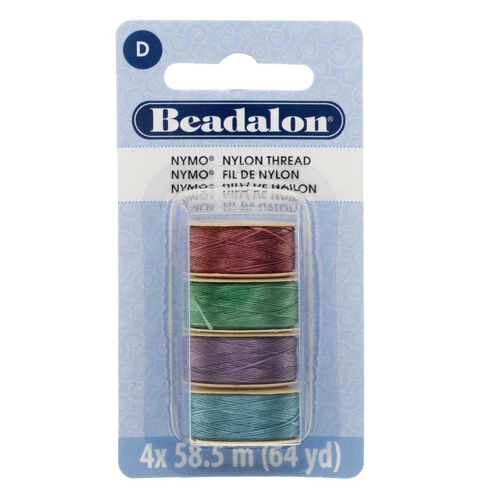 Nymo Nylon Bead Thread Variety Pack, Size D / 0.30mm / .012