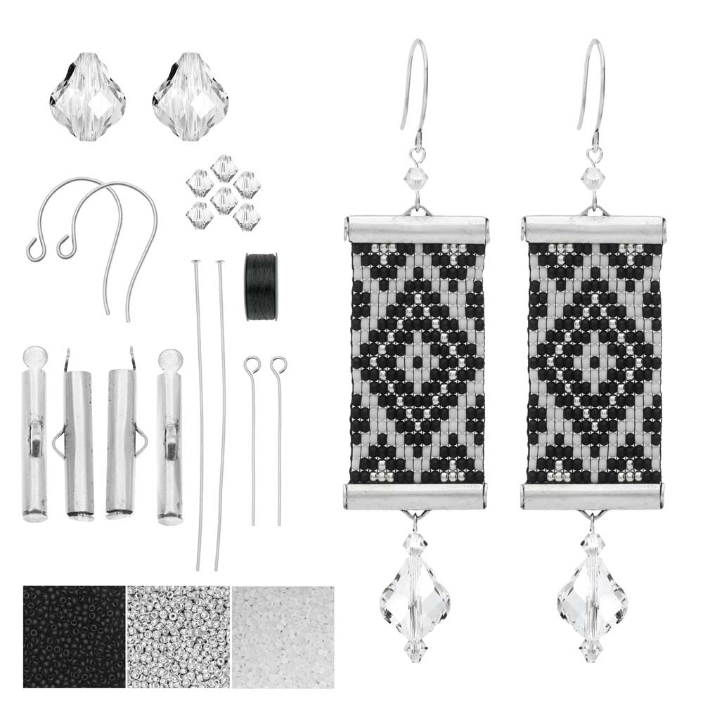 Refill - Loom Statement Earrings in Helsinki - Exclusive Beadaholique Jewelry Kit