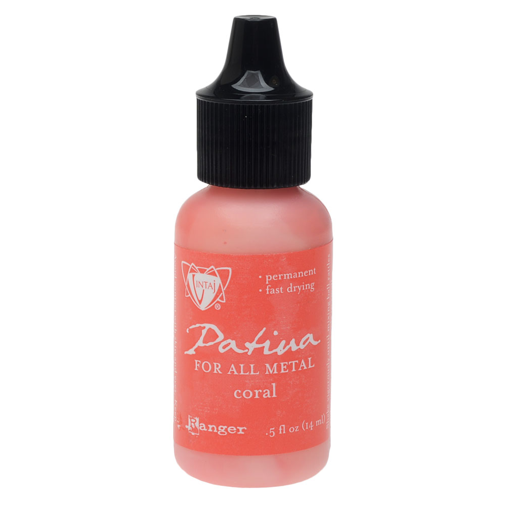 Vintaj Patina, Opaque Permanent Ink For Metal, 0.5 Ounce, Coral