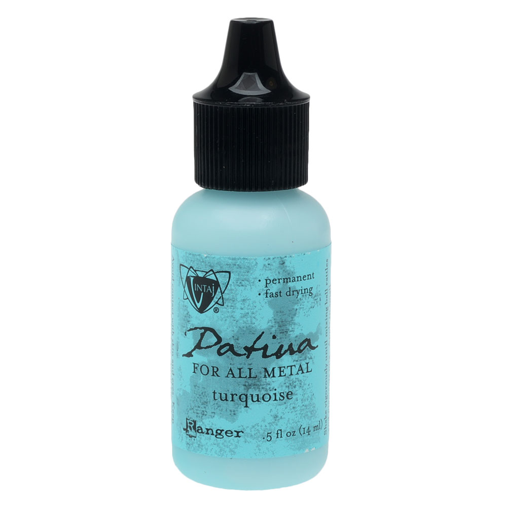 Vintaj Patina, Opaque Permanent Ink For Metal, 0.5 Ounce, Turquoise
