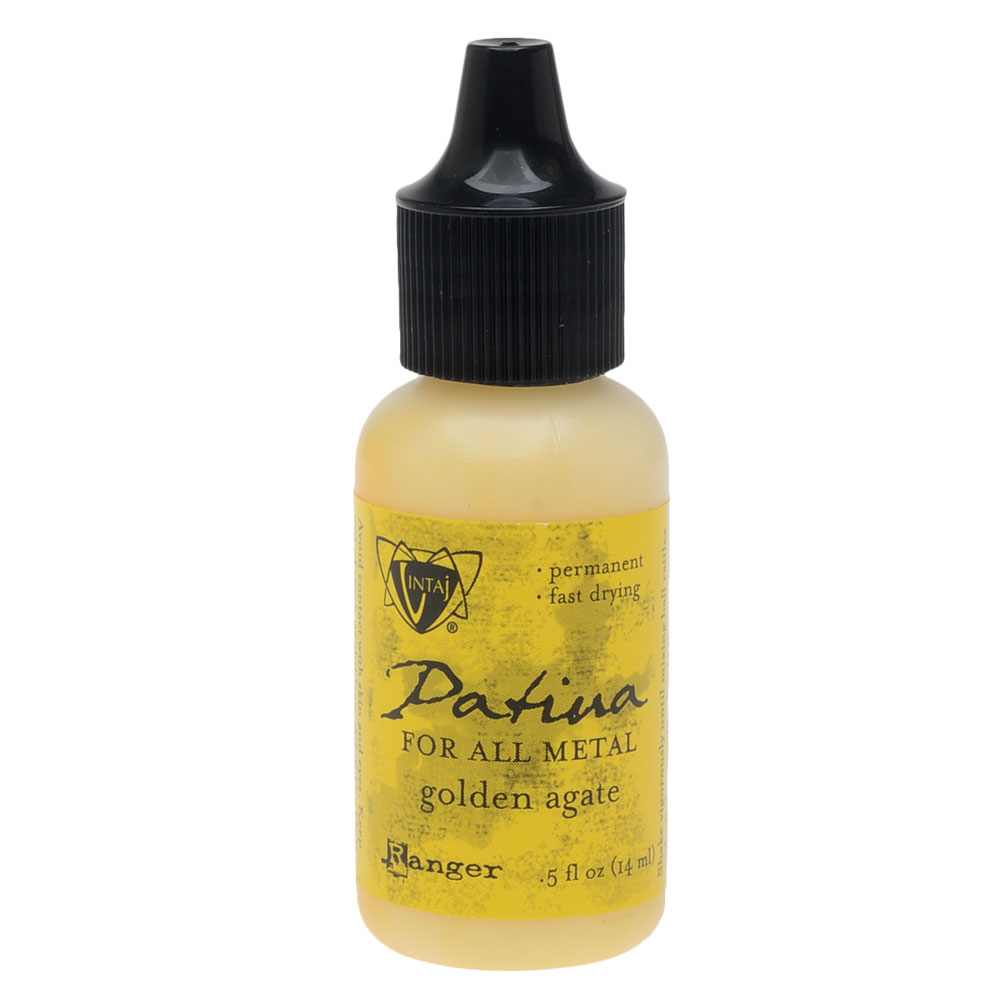 Vintaj Patina, Opaque Permanent Ink For Metal, 0.5 Ounce, Golden Agate