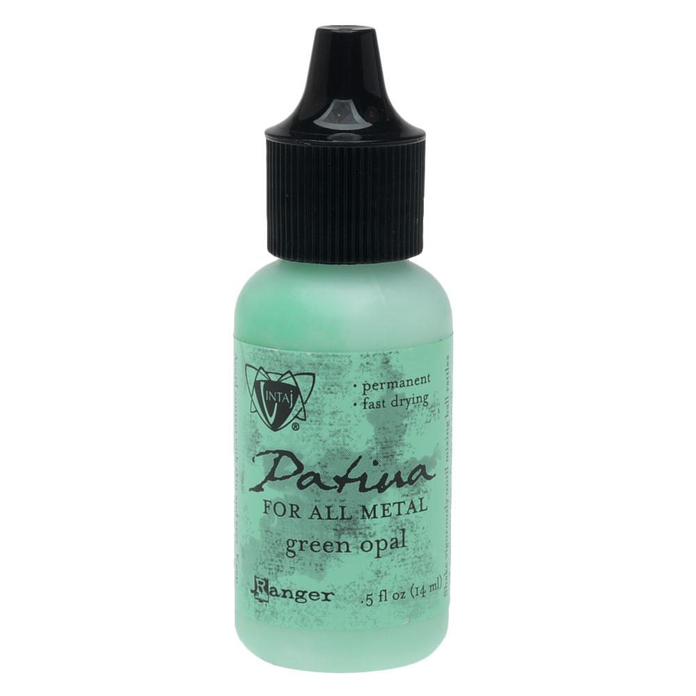 Vintaj Patina, Opaque Permanent Ink For Metal, 0.5 Ounce, Green Opal