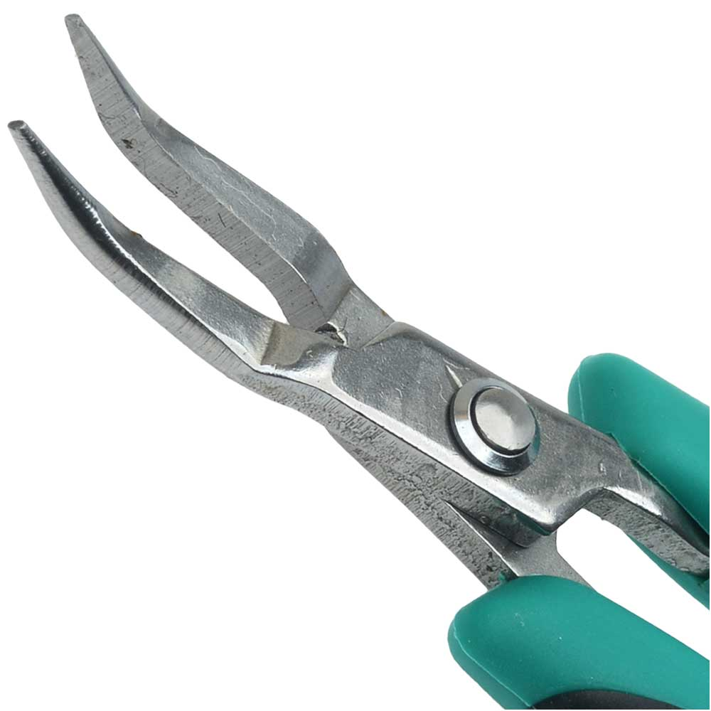 Micro Grip Pliers, Bent Chain Nose, 5 Inches Long, 1 Piece