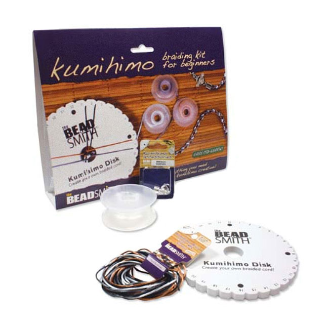 BeadSmith Kumihimo Braiding Kit For Beginners - Easy To Learn!