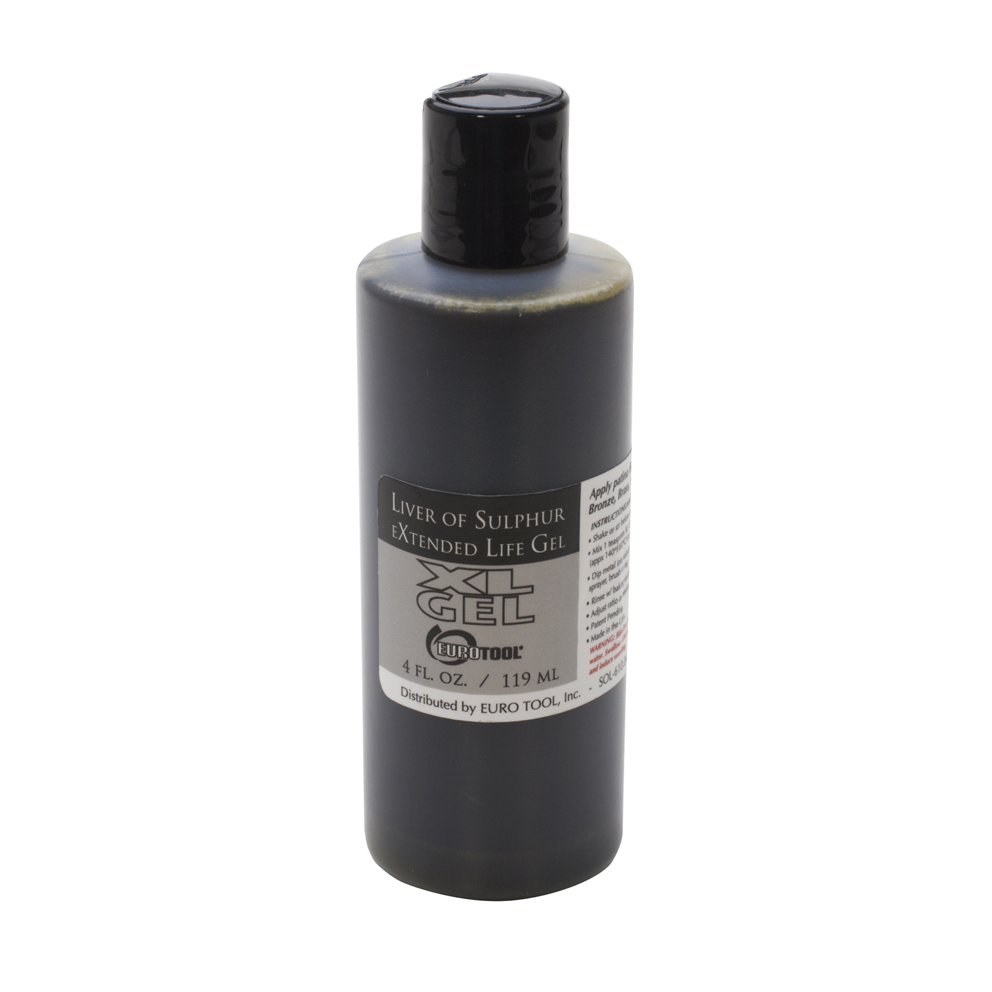Extended Life Liver of Sulfur Patina Oxidation Gel 4 ounces