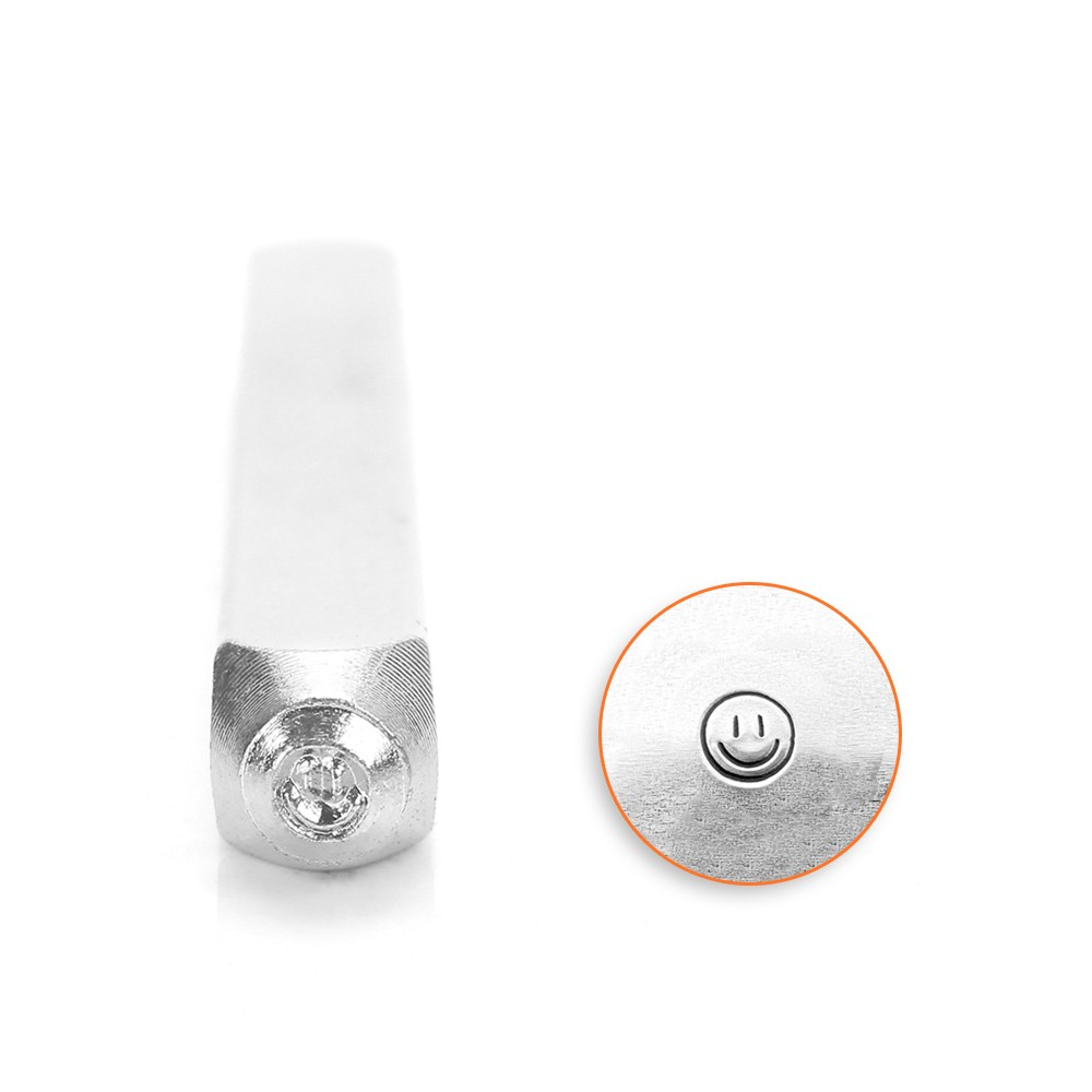 ImpressArt Metal Punch Stamp, Smiley Face 3mm (1/8 Inch), 1 Piece, Steel