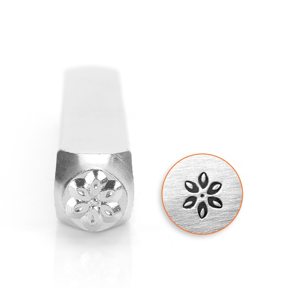 ImpressArt Metal Punch Stamp, Lily 6mm (1/4 Inch), 1 Piece, Steel
