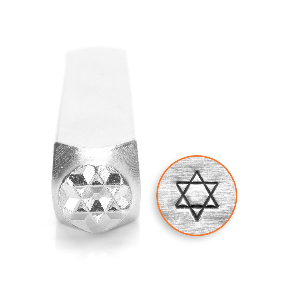 Final Sale - ImpressArt Metal Punch Stamp, Star of David 6mm (1/4 Inch), 1 Piece, Steel